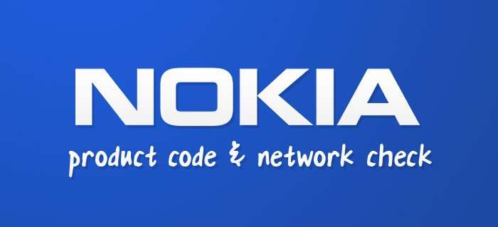 Nokia product code & network check