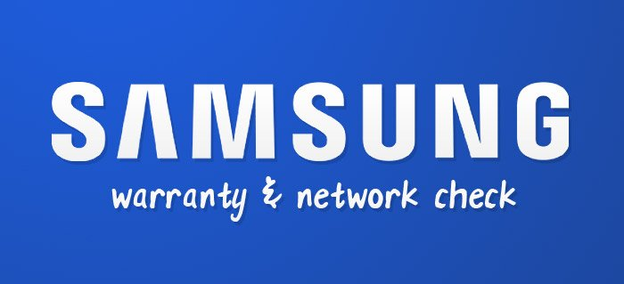 Samsung network & warranty check