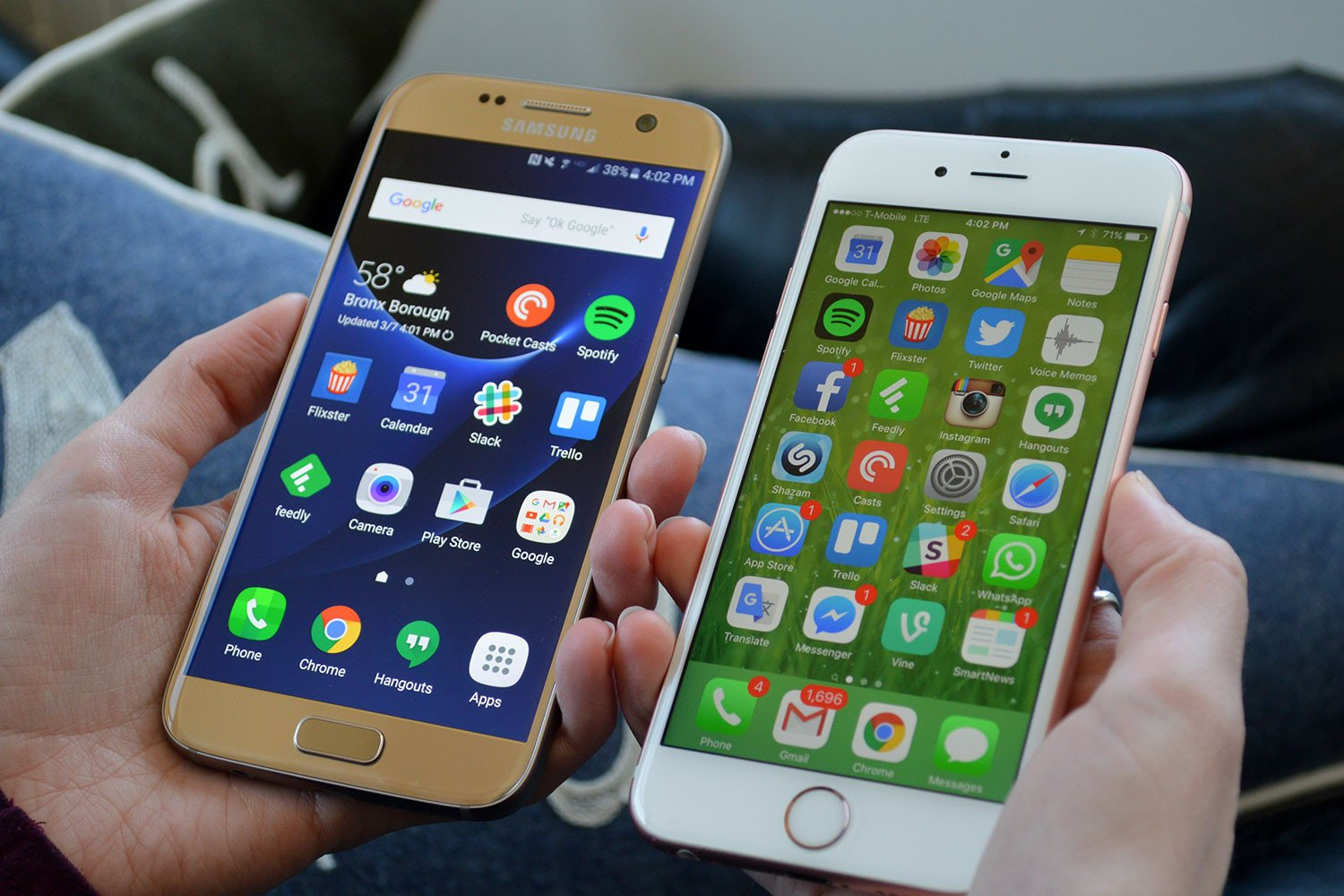 Samsung Galaxy S7 v iPhone 7 – Which Looks Best?