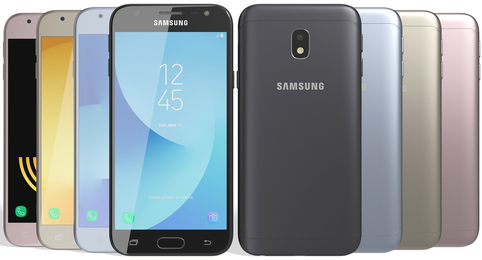 The Samsung Galaxy J3 line-up includes the Pro, Prime, Emerge, Top and Orbit.