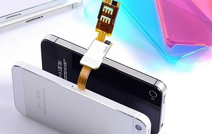 KOOSIM DS-2 iPhone Dual SIM Card Adapter UK, 5, 5C, 5S, 6, 6P, 6S, 6SP, SE, 7, 7P, 8, 8P