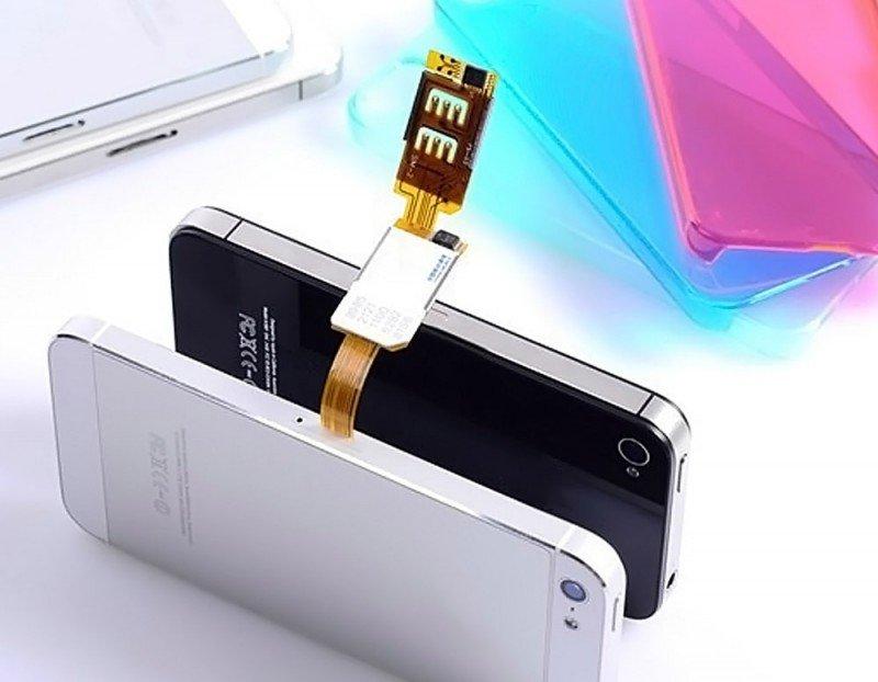 KOOSIM DS-2 iPhone Dual SIM Card Adapter UK, 5, 5C, 5S, 6, 6P, 6S, 6SP, SE, 7, 7P, 8, 8P